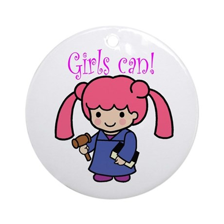 Girl Judge Ornament (Round)