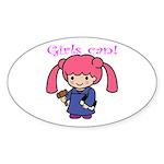 Girl Judge Oval Sticker