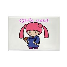 Girl Judge Rectangle Magnet