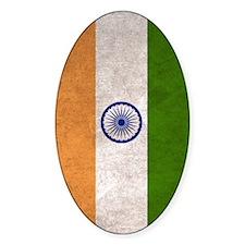 India Flag Vintage / Distressed Decal