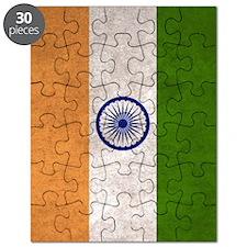 India Flag Vintage / Distressed Puzzle