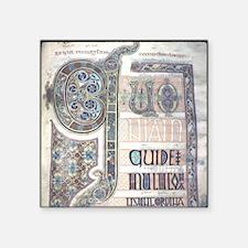 """698 AD. Northumbrian school Square Sticker 3"""" x 3"""""""