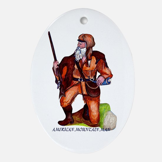AMERICAN FRONTIER Oval Ornament
