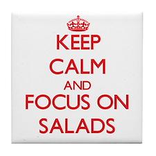 Cute Salad Tile Coaster