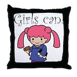Girl Judge Throw Pillow