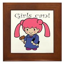 Girl Judge Framed Tile
