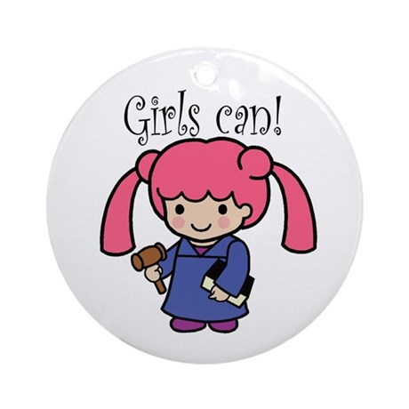 Girl Judge Ornament (Round)