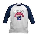 Girl Judge Kids Baseball Jersey
