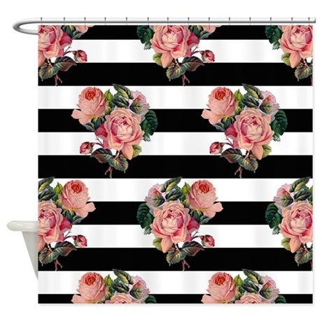 Funny Vintage Roses Shower Curtain