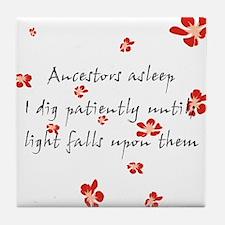 Genealogy Haiku Tile Coaster