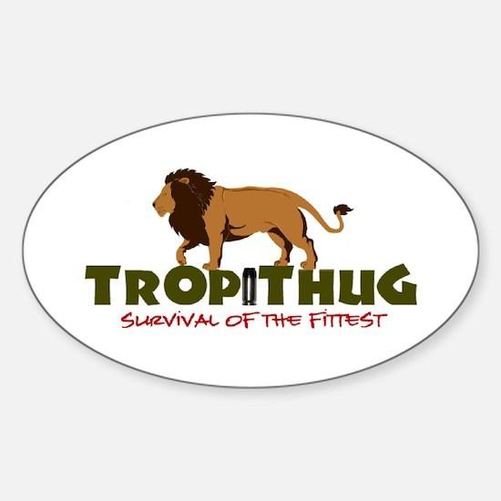TropiThug Full Size Oval Bumper Decal