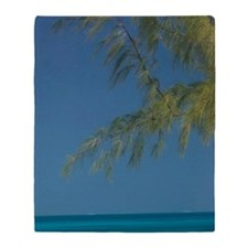 Solitary Beachgoer CAICOS, Salt Cay  Throw Blanket