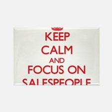 Keep Calm and focus on Salespeople Magnets
