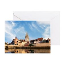 Old Town Skyline with St. Peter's Ca Greeting Card