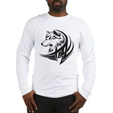Tribal Wolf Tattoo Long Sleeve T-Shirt