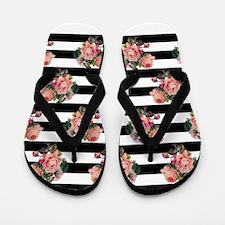 Cute Beautiful roses Flip Flops