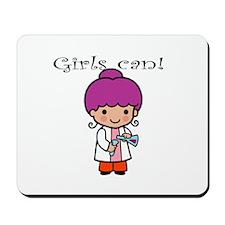 Girl Scientist Mousepad