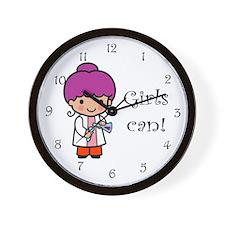 Girl Scientist Wall Clock
