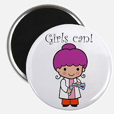 Girl Scientist Magnet