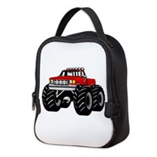 Red MONSTER Truck Neoprene Lunch Bag