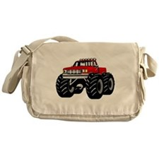 Red MONSTER Truck Messenger Bag