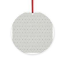 Grey Honeycomb Ornament (Round)