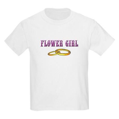 Flower Girl(rings) Kids Light T-Shirt