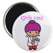 "Girl Scientist 2.25"" Magnet (10 pack)"