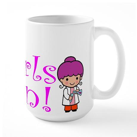 Girl Scientist Large Mug