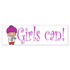 Girl Scientist Bumper Bumper Sticker