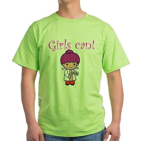Girl Scientist Green T-Shirt
