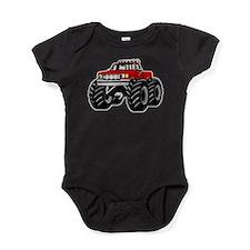 Red MONSTER Truck Baby Bodysuit