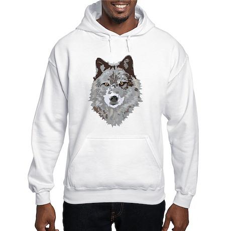 Wolf Illustration Hooded Sweatshirt