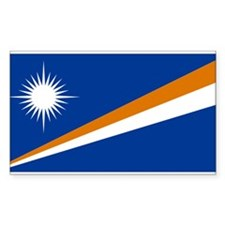 Tthe Marshall Islands Rectangle Decal