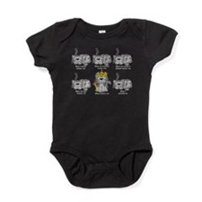 Funny Gray tabbies Baby Bodysuit
