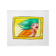 himawari has fun Throw Blanket
