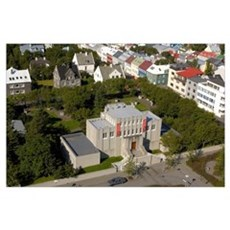 Iceland, Reykjavik, Einar Jonsson Museum Poster