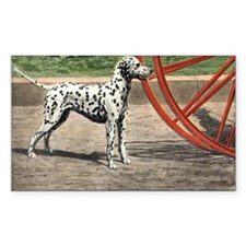 Dalmatian Art Rectangle Decal