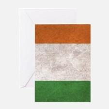 Ireland Flag Vintage / Distressed Greeting Card