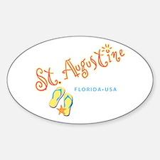 St. Augustine - Sticker (Oval)