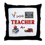 Teachers Do It With Class Throw Pillow