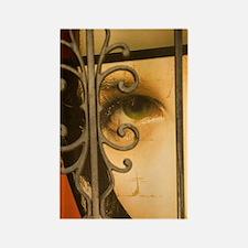 Old San Juan. Painting of woman b Rectangle Magnet