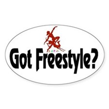 Got Freestyle Oval Decal