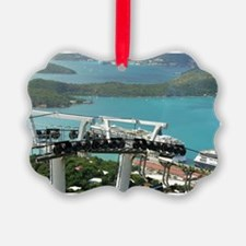 St. Thomas Skyride. View of cruis Ornament