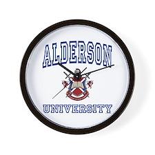 ALDERSON University Wall Clock