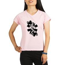 Nurse Heart Tattoo Performance Dry T-Shirt