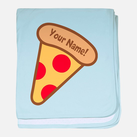 YOUR NAME Cute Pizza baby blanket