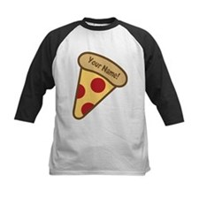 YOUR NAME Cute Pizza Baseball Jersey