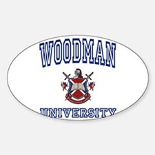 WOODMAN University Oval Decal