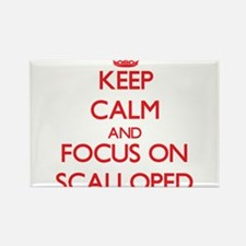 Keep Calm and focus on Scalloped Magnets